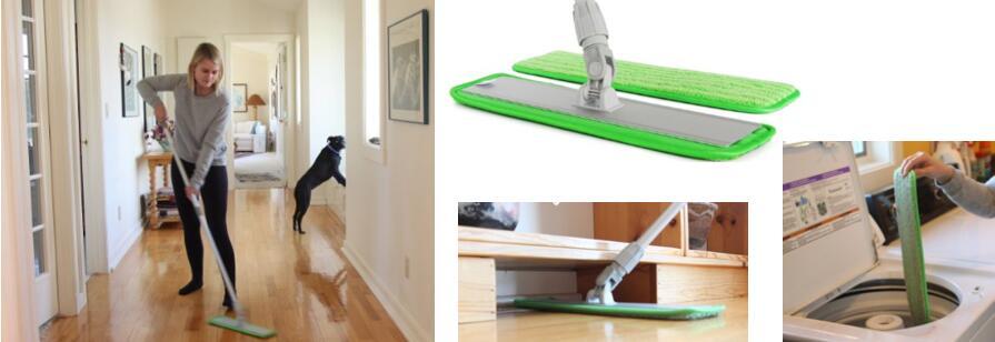 Aluminum Alloy Microfiber Mop & Sweeper