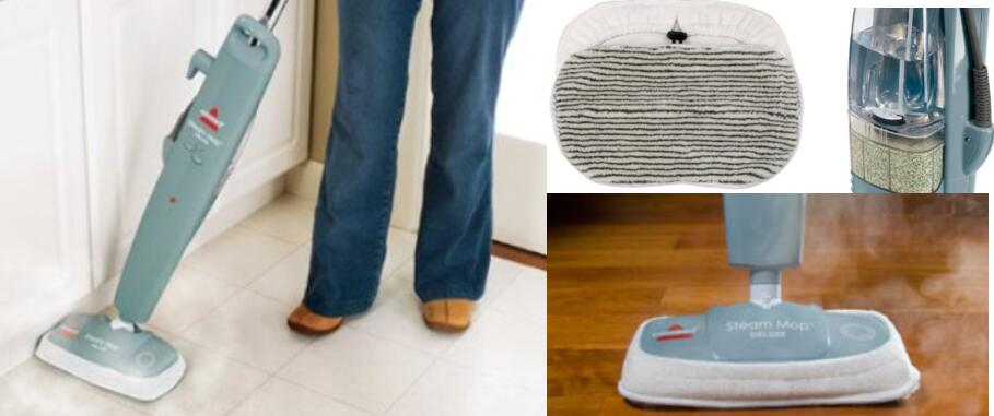 BISSELL Steam Mop Deluxe Hard Floor Cleaner-3in1
