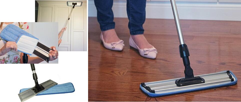 Commercial Grade Microfiber Floor Dust Mop With A Washable Pad