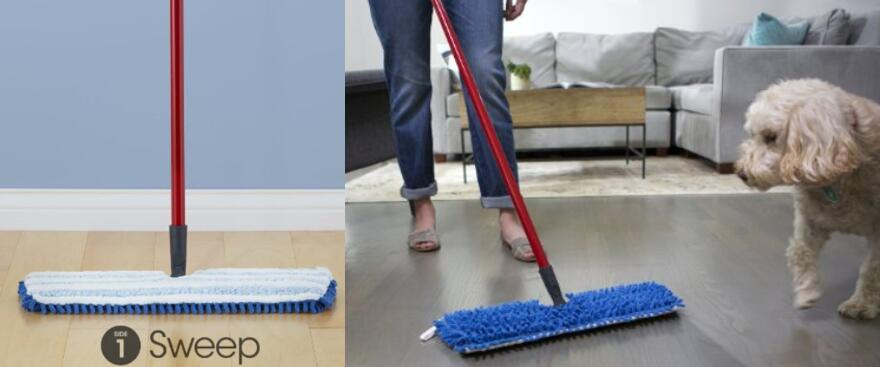O-Cedar Dual Action Microfiber Flip Mop Damp Dry All Surface Mop