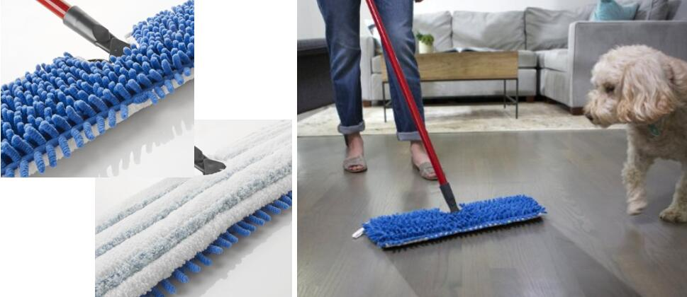 O-Cedar Dual Action Microfiber Flip Mop Damp n Dry All Surface Mop