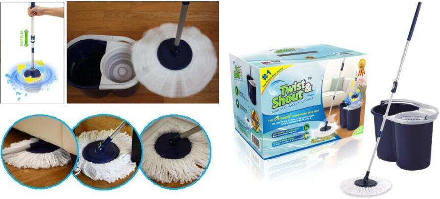 Top sales Twist and Shout Mop - Original Hand Push Spin Mop