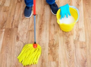 how to clean a mop with bucket