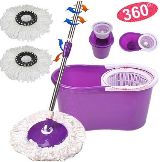 p Goplus Microfiber Spining Magic Spin Mop W bucket 2 Heads Rotating 360 Easy Floor Mop