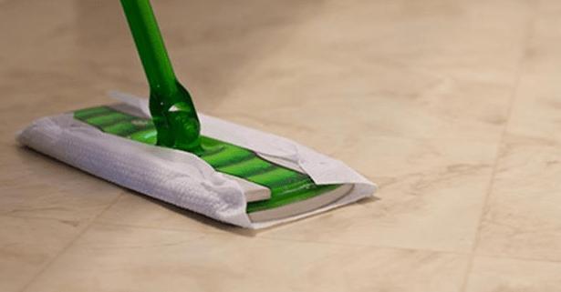 vinyl floor care mop