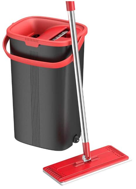 flat mop and bucket