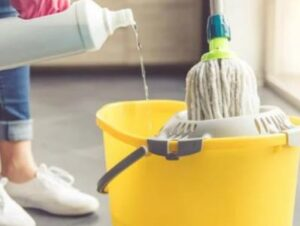 how to clean fixed mop head