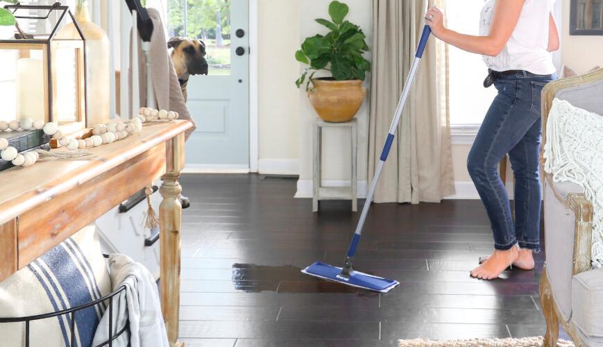 spray mop hardwood