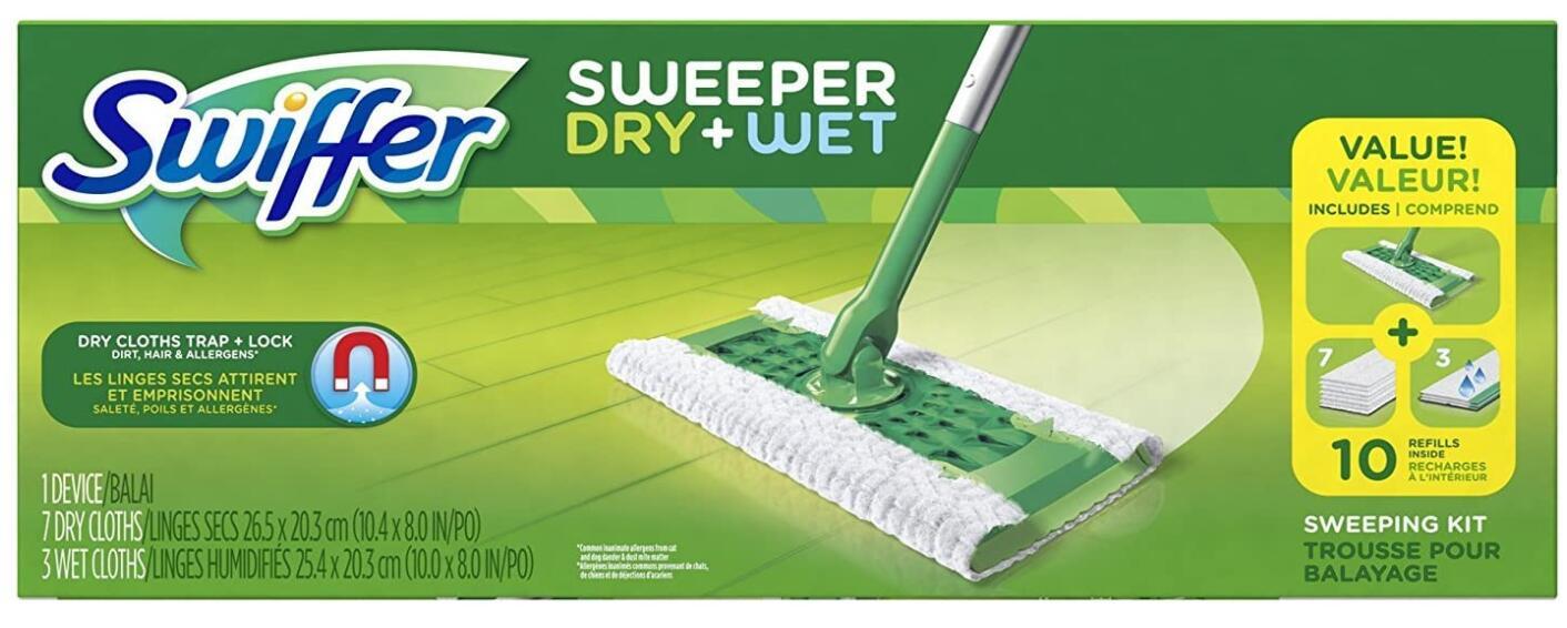 swiffer sweeper wet mop hardwood