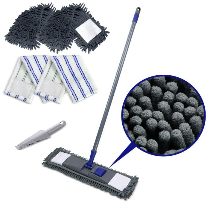 flat dust mop and sweeping clean mop