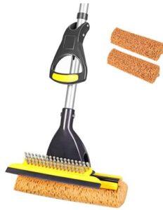 Yocada sponge mop with self-wringing for tile floors