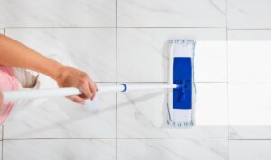 how to clean the tile floors with a sponge mop