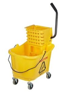 35 quart mop bucket with side-press wringer for home use