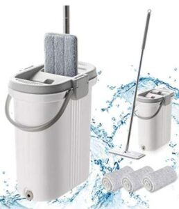 flat mop and bucket for home and commercial use