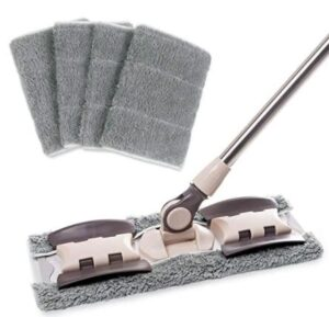 flat mop with microfiber head for cleaning floors