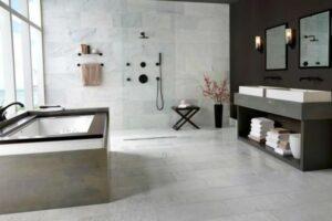 how to clean marble floor in bathroom
