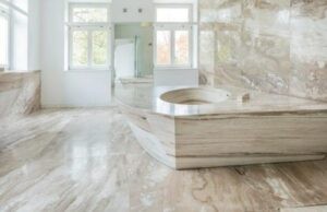 how to clean marble shower floor tiles