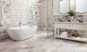 how to clean marble tile shower