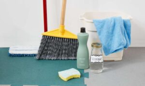 what is the best way to clean rubber gym floors
