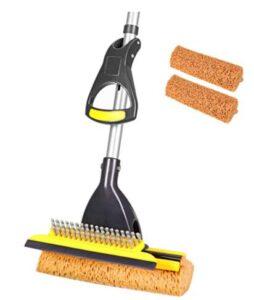 best 3 in 1 sponge mop for rubber gym floor