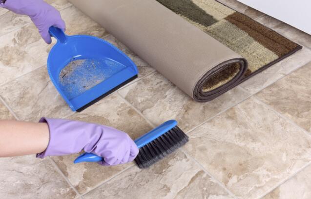 how to shine tile floors