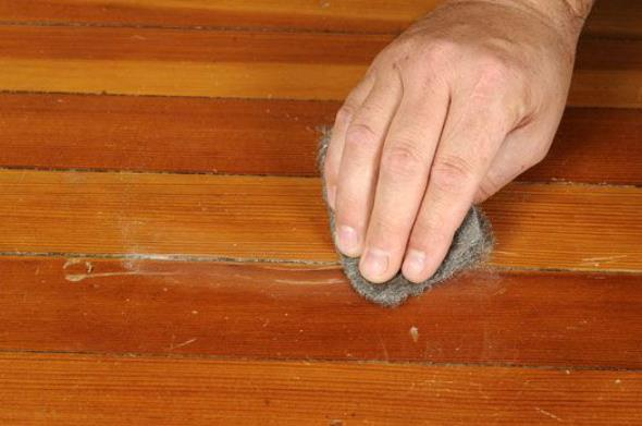 how should you get dog scratches out of wood floor