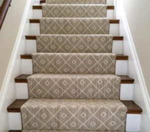 cleaning carpets on stairs