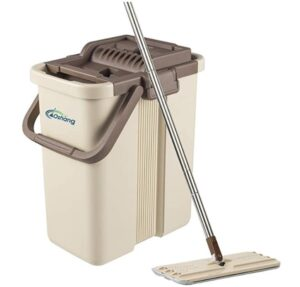 flat mop with two water tank