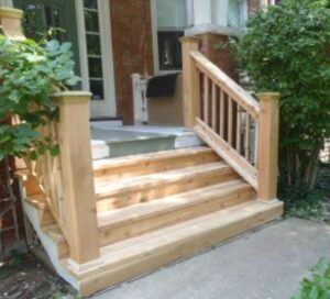 how to mop wood steps