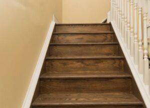 clean hardwood on stairs